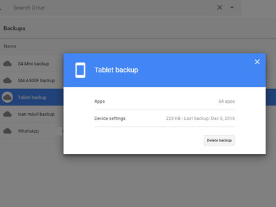 Google Drive te muestra el tamaño de tus copias de seguridad de Android y te permite borrarlas