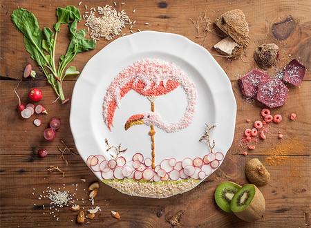Anna Keville Joyce une comida y diseño para crear preciosas ilustraciones de aves