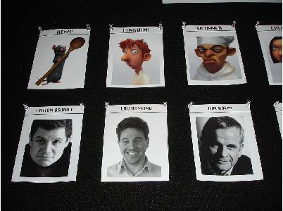 Los personajes de Ratatouille: Remy, Linguini y Skinner