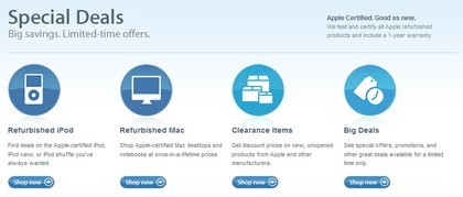 Apple rediseña su tienda on-line de ofertas especiales