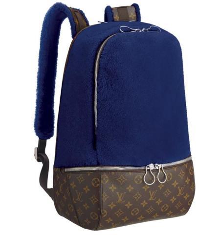 Marc Newson And Louis Vuitton Fleece Pack Blue