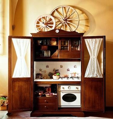 Una cocina vintage compacta