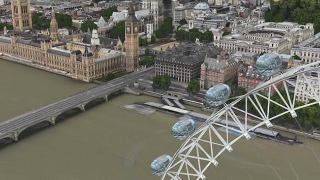 El London Eye y el Big Ben cobran vida en los Mapas de Apple