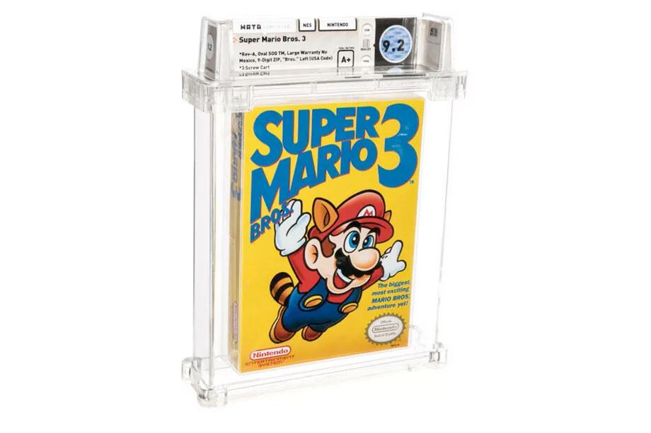 Una copia de 'Super Mario Bros. 3' bate récord histórico en precio en una subasta: 165.000 dólares por un cartucho