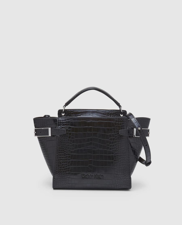 Bolso de mano Calvin Klein en negro con grabado coco y asa larga