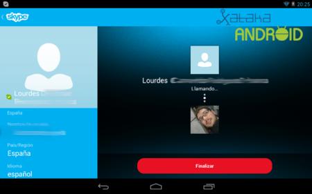 Llamada Skype Tablet