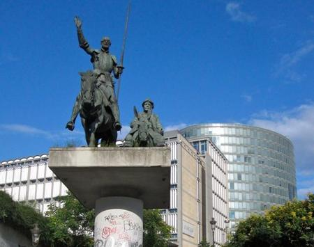 Don Quijote y Sancho Panza en Bruselas