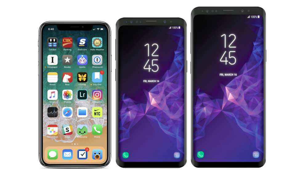 e4e3de89fc1 Samsung Galaxy S9/S9+ y Apple iPhone X, comparativa de características y  precio