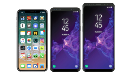 comparar samsung note 8 y s9 plus