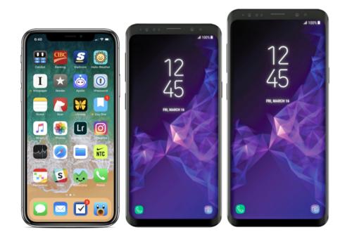 Samsung Galaxy S9/S9+ vs iPhone X: comparamos los dos máximos protagonistas de la gama alta