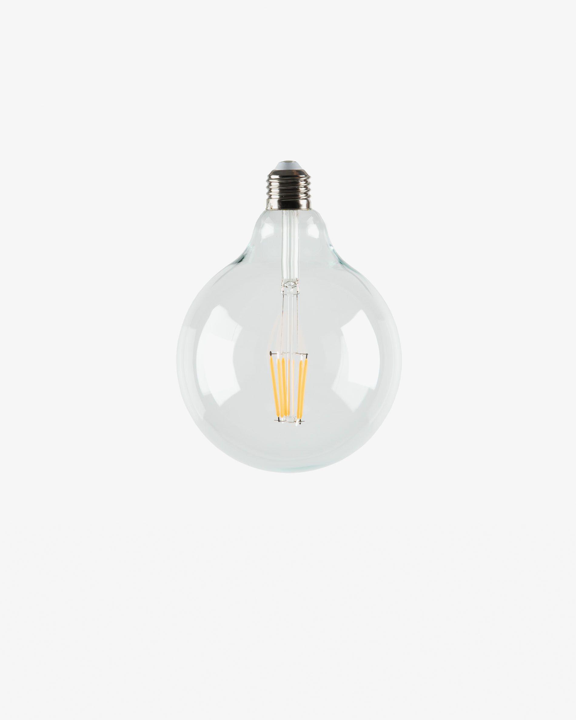 Bombilla LED Bulb E27 de 6W y 120 mm luz cálida
