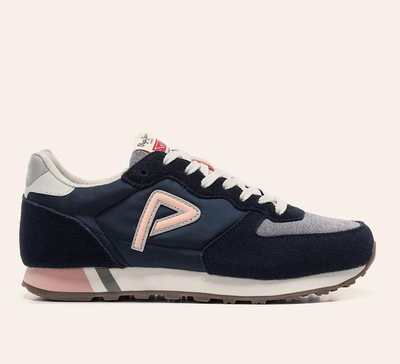 Zapatillas deportivas de mujer Pepe Jeans en color azul marino con detalles en ante
