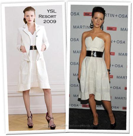 Vestido blanco YSL