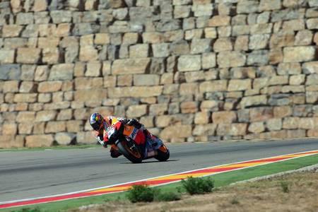 MotoGP Aragón 2012: Dani Pedrosa, cinco puntos menos y cuatro carreras