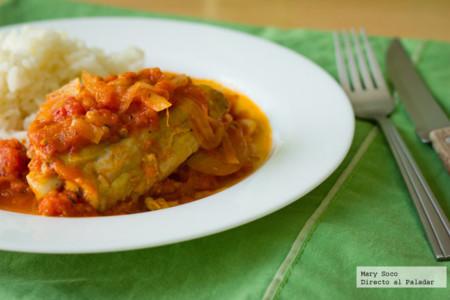 Pollo en salsa de jitomate y orégano. Receta