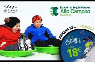 La estación de esquí de Alto Campoo celebrará la Semana del Esquiador con precios especiales
