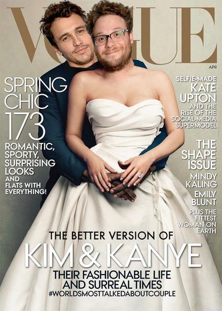 La parodia de Kim Kardashian y Kanye West en la revista Vogue se estaba haciendo de rogar...