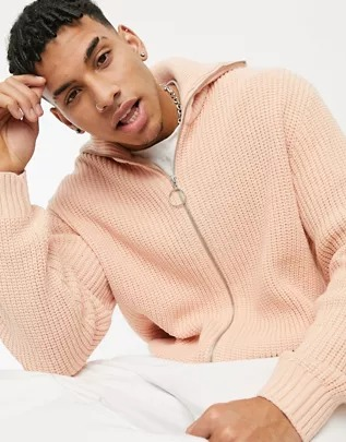 Camisa Oxford de corte slim en rosa de ASOS DESIGN