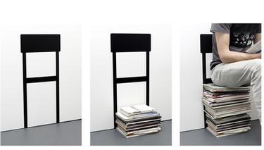 Utiliza tus revistas como asiento de forma original