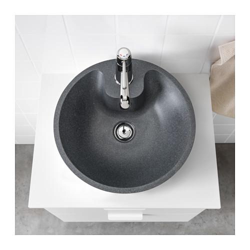 Ikea Bodviken Lavabo Encimera Gris Oscuro Efecto Piedra 75 Eur