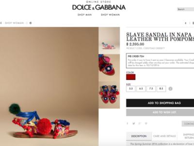 """Dolce & Gabbana y sus sandalias """"esclavas"""" incendian las redes"""