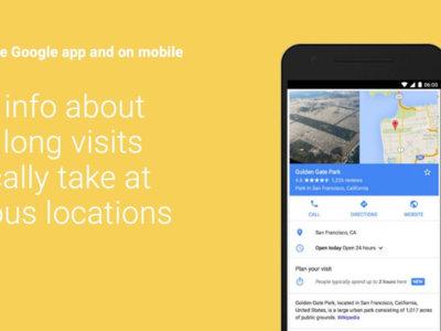 Google empezará a mostrar cuánto tiempo dura de media la visita a un lugar