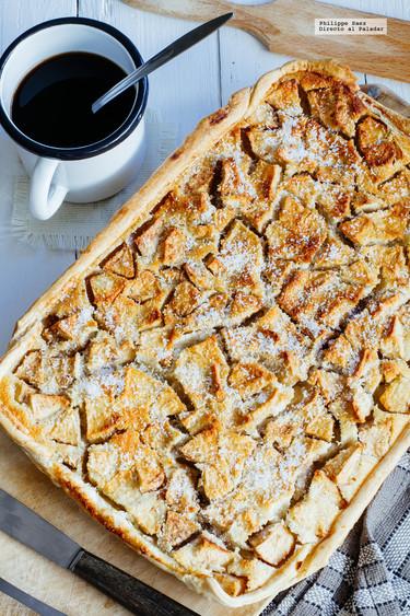 Tarta de manzanas y coco. Receta de postre fácil