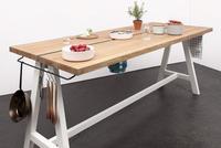 El último grito en diseño de cocinas: una tabla de madera