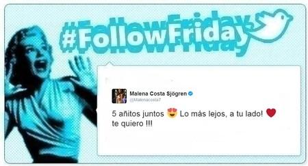 #FollowFriday de Poprosa: entre amor, cotilleos y niños anda el juego