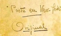 'Poeta en Nueva York', de Federico García Lorca (Galaxia Gutenberg)