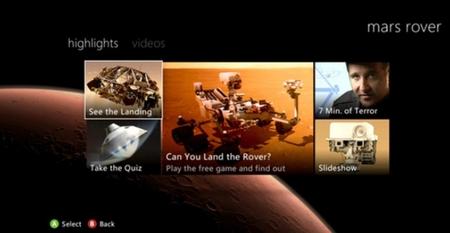 La llegada del Mars Rover de la NASA a Marte podrá verse en directo por la Xbox 360 en lunes