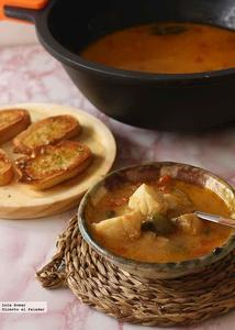 Receta de burrida ligure. Sopa de pescado italiana