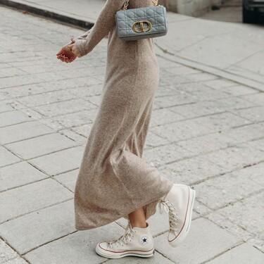 Cómo combinar las converse con vestidos: cinco looks para inspirarte
