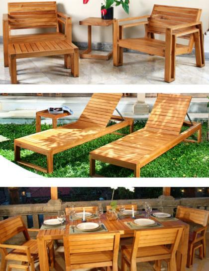 Muebles en teca para exteriores de maku for Muebles para exteriores baratos