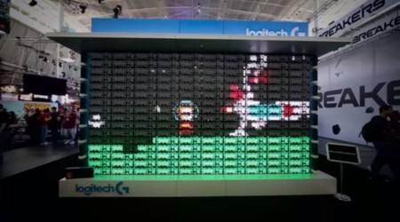 Logitech crea pantalla LED compuesta de 160 teclados mecánicos para promocionar su nuevo modelo