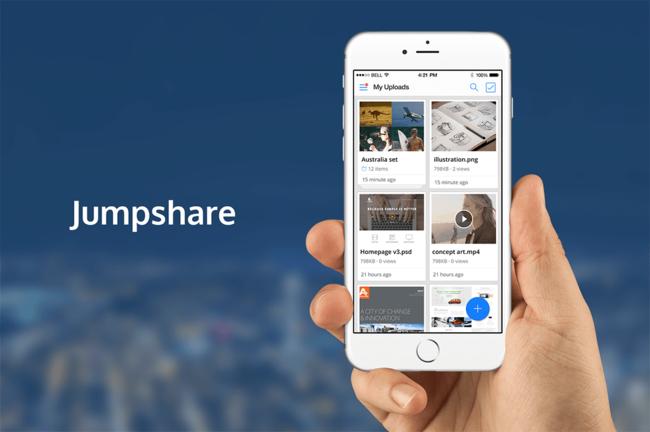 Comparte archivos rápidamente desde tu iPhone con Jumpshare para iOS