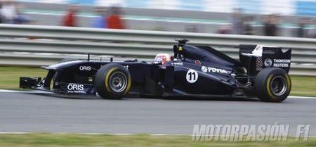 Test de Jerez. Rubens Barrichello y su Williams F1, los más rápidos en Jerez