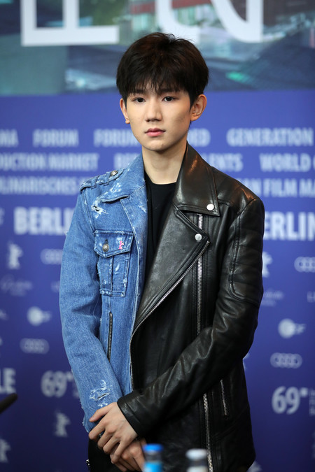 Yang Wuan Berlinale Red Carpet Biker Jacket Leather Denim 02