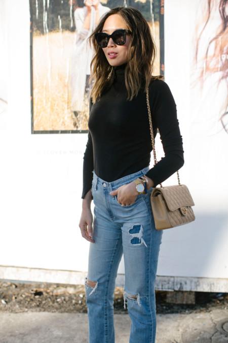 Aimee Song Of Style Celine Black Frame Sunnies Chanel Vintage Bag