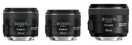 Algunas de las focales fijas de Canon