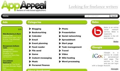 AppAppeal, directorio de revisiones de aplicaciones web