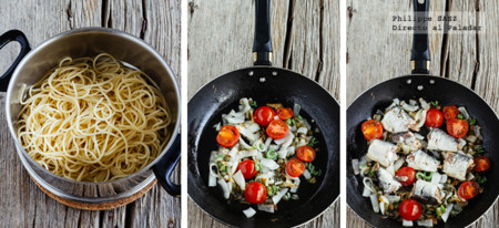 Spaghetti Sardinas Prep