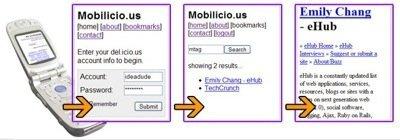 Mobilicio.us, accede a tus marcadores online desde el móvil