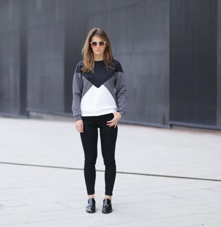 Clochet Streetstyle Suiteblanco Neoprene Sweatshirt Lykke Li Loafers