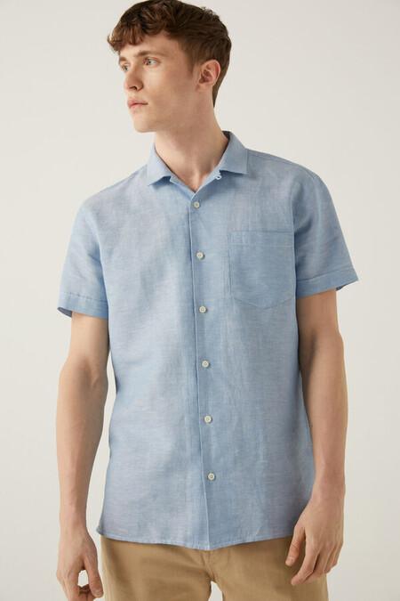 Camisa Manga Corta Bowling Lino
