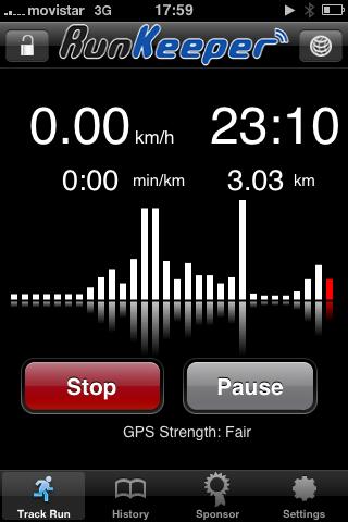 RunKeeper, sustituto al Nike+ en el iPhone