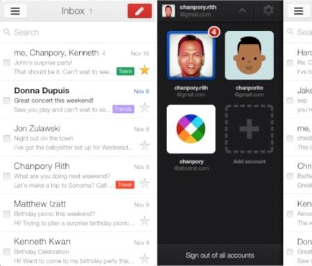 Las primeras consecuencias de la compra de Sparrow: Google rediseña su cliente oficial de Gmail para iOS