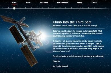 Charles in Space, La experiencia espacial narrada en un blog