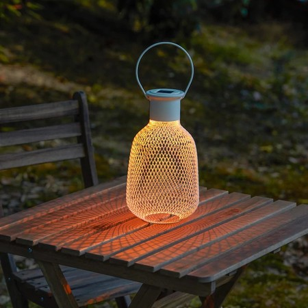 Solvinden Led Solar Powered Lantern Outdoor Mesh White 0776664 Pe758190 S5