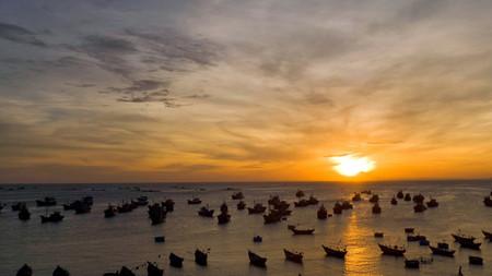 Puesta de sol en Mui Ne, Vietnam